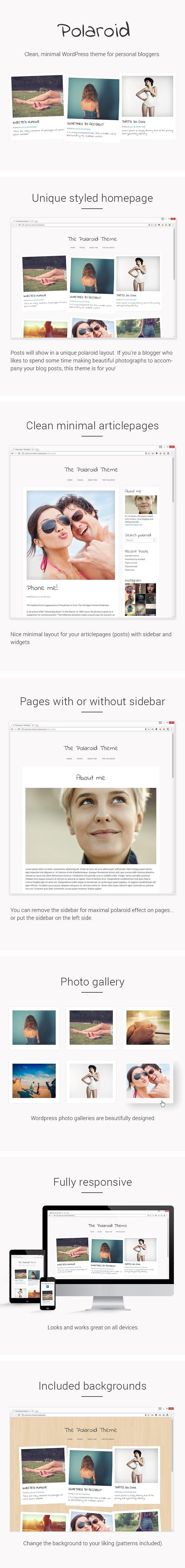 Polaroid features Polaroid - Unique Personal Blog Theme for WordPress (Personal) Polaroid - Unique Personal Blog Theme for WordPress (Personal) preview themeforest
